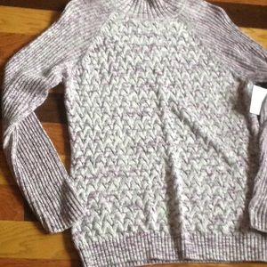 Crofts&Barrow purple,pink,gray,white sweater XL